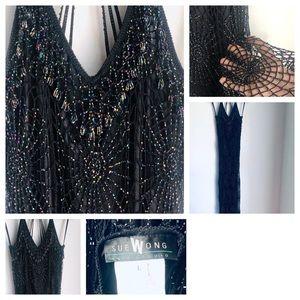 Vintage Dresses - Vintage Sue Wong Vintage Beaded Gown Dress
